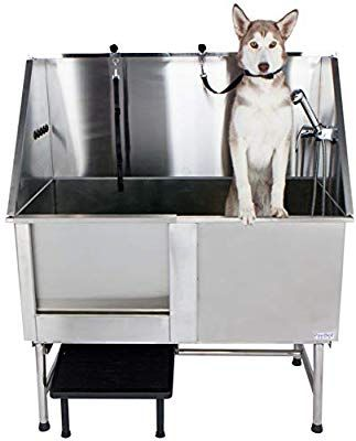 Amazon Com Pawbest Stainless Steel Dog Grooming Bath Tub With