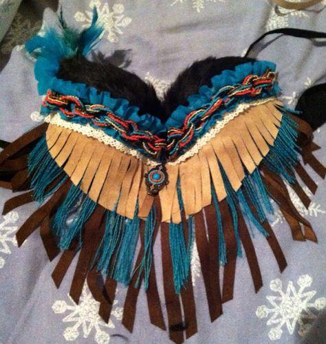 Native/ Indian Rave Bra (negotiable price) on Etsy, $75.00