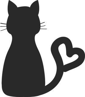 Gratis Pixday Bei Pixabay Charaktere Katze Silhouette Tier Basteln Bast Cartoon Silhouette Katzen Silhouette Katzen Bilder