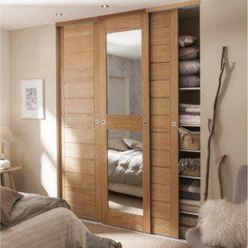 KAZED - portes de placard coulissantes Kabourg naturel Chambre à