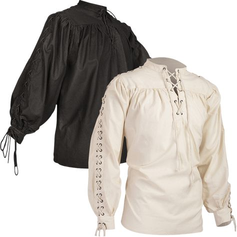 If you want a classic medieval shirt that looks authentic and easy to put on, look no further than the Alex Cotton Shirt with Eyelets! This high fantasy shirt is perfect in both the medieval world and the realms of fantasy roleplay!