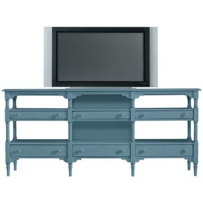 """Ridiculous price, but I love this color blue, and can see it being used as a sofa table rather than a tv stand.  Coastal Living™ by Stanley Furniture Coastal Living 82"""" TV Stand 