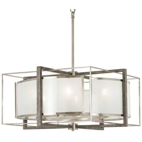 Brushed Nickel Pendant Chandelier 24