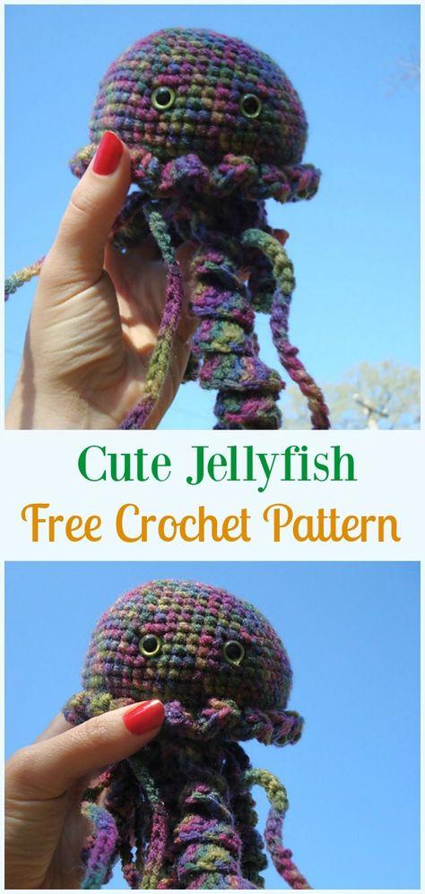 Cute Jellyfish Amigurumi Crochet Free Pattern - #Amigurumi ...