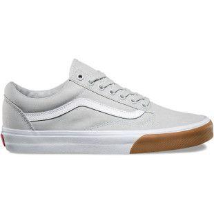 Vans Old Skool Shoes Gum Bumper Glacier Grey True White