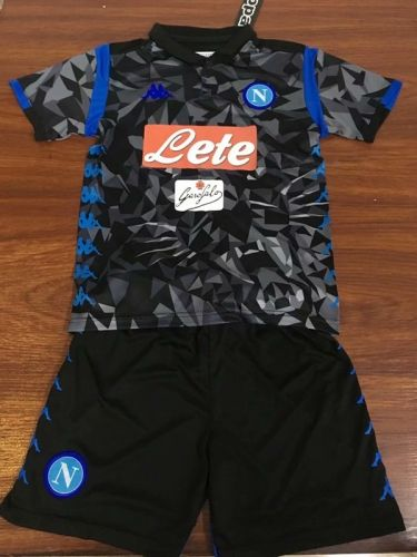 2018 19 Ssc Napoli Away Camouflage Black Youth Kid Soccer Uniform Soccer Uniforms Cheap Football Shirts Youth Soccer