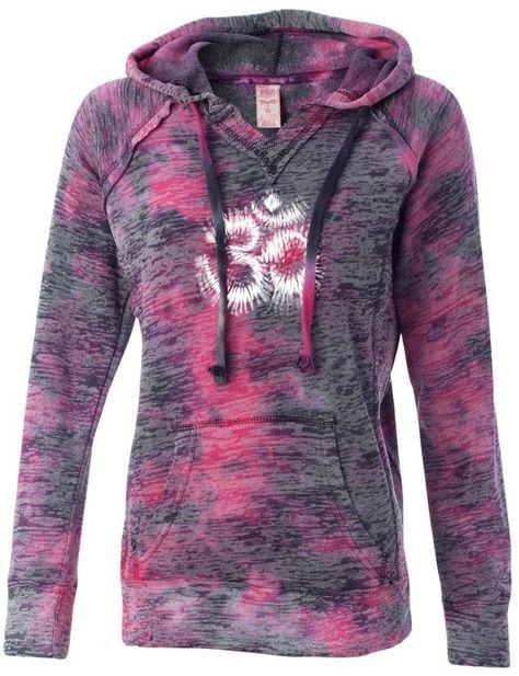 Ladies Tie Dye OM Lightweight Hoodie Yoga Tee Shirt - W1162-DYEOM