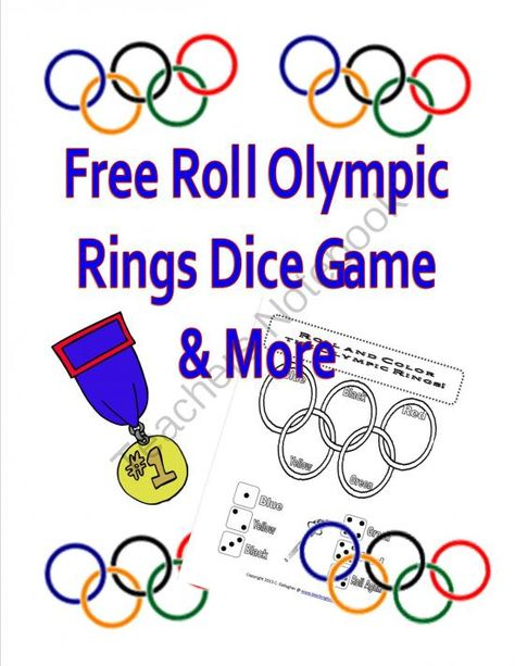 Olympic Rings Dice Game (  FREE ) from Teaching Heart on TeachersNotebook.com -  (1 page)  - Free roll an Olympic Rings Dice Game. Please leave positive feedback if you enjoy this with your students. Thank you!