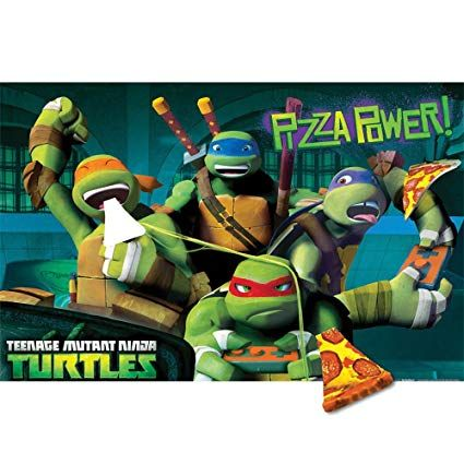 Teenage Mutant Ninja Turtles Pin the Pizza Party Game