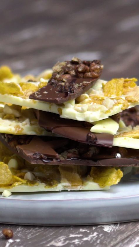 The answer to all your chocolate cravings is here: homemade cereal bark with milk and white chocolate.