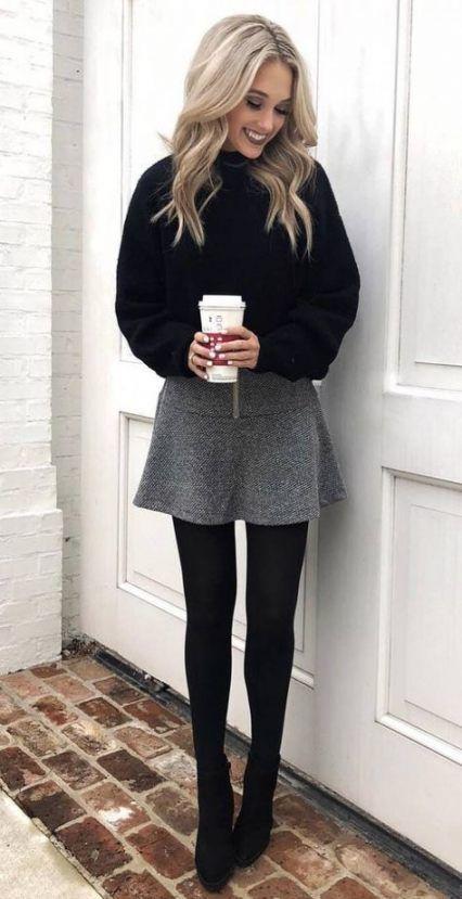 dress + tights + boots | Fashion, Grey