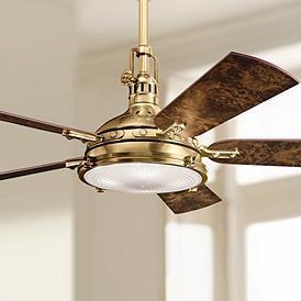 56 Kichler Hatteras Bay Burnished Antique Brass Ceiling Fan Antique Ceiling Fans Ceiling Fan Vintage Ceiling Fans