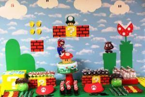 Fiesta Temática Mario Bros Para Niños De Todas Las Edades Decoracion De Mario Bros Cumpleaños De Mario Bros Fiesta De Cumpleaños De Mario