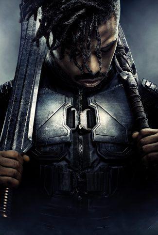 Download Black Panther Character Poster Erik Killmonger Wallpaper Black Panther Character Black Panther Movie Poster Black Panther Marvel
