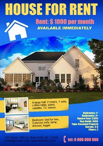 House For Sale Flyer Lovely House For Rent Poster Created Using Ronyasoft Poster Renting A House Rent Vacation Apartments