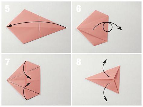 Origami Bird Base | 355x474