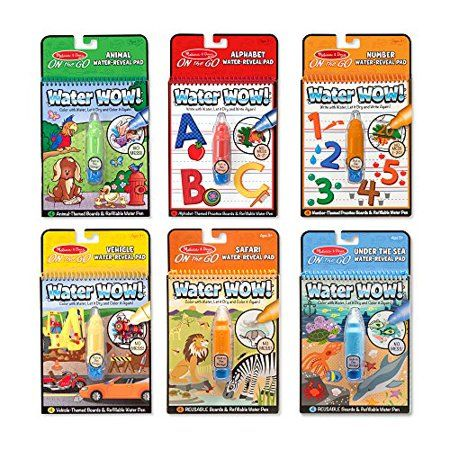 Melissa Doug On The Go Water Wow Reusable Water Reveal Activity Pads 6 Pk Walmart Com Melissa And Doug Melissa Doug Coloring Books