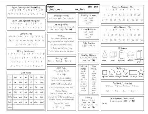 kindergarten report card template kindergarten kidlets - format of a progress report