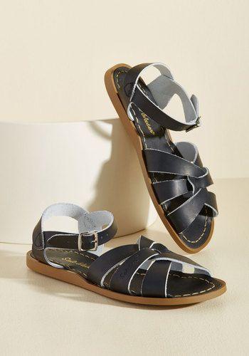 Salt Water Leather Sandal in Black | Waterproof shoes