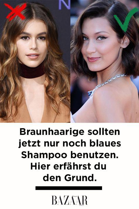Blaues shampoo fur braunes haar