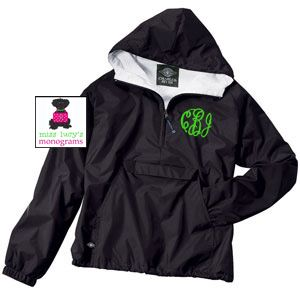 MONOGRAMMED Pullover Wind Jacket - Water Resistant - Flannel Lined