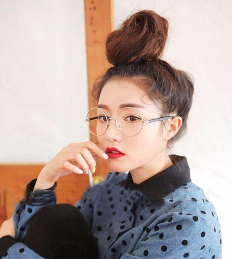 1d17983b19d Korean Round Framed Glasses from hhotaru