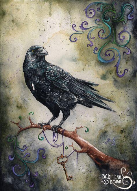 Raven, Crow, et Corbacs  1847abaf5fce91c5a5988869c6f49c49--art-reproductions-crows-ravens