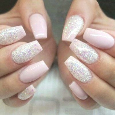 Pink Nails With Glitter Accent Pink Nail Polish Colors Really Look