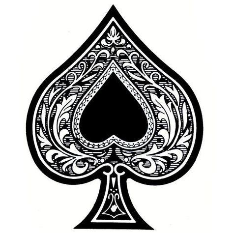 fancy spade card symbol  Ace of Spades Tattoo Ace Tattoo Tattoo Spade Tattoo Thoughts ...