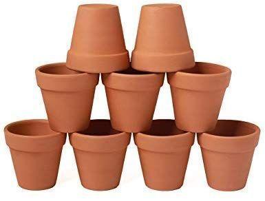 Yxmyh 9 Pcs Mini Small Terracotta Pot Clay Pots 3 Clay Ceramic Pottery Planter C In 2020 Small Terracotta Pots Pottery Planters Succulent Pots