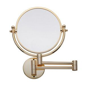 楽天市場 ミラー 壁付け 壁掛け 拡大鏡 両面 鏡 3倍 シャンパン