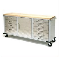 Seville Classics Ultrahd 12 Drawer Rolling Workbench Rolling Workbench Wood Storage Cabinets