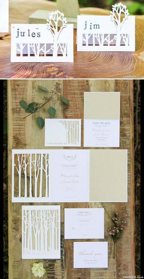 Autumn Woodland Wedding Stationery Including Invitations Rsvp Save The Date And Place Cards Confetti Co Uk