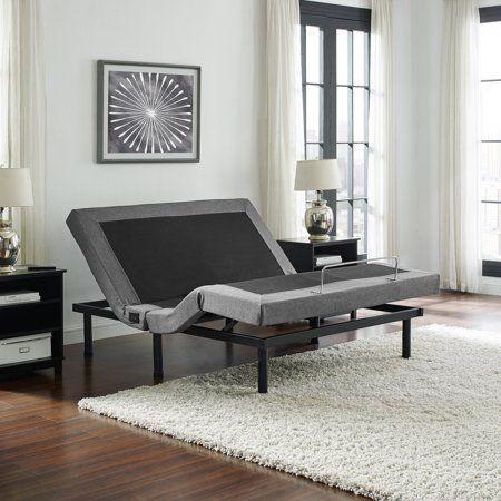 Posturecloud Adjustable Bed Base Dual Massage Usbs Three Leg Height Options And Wireless Remote Uph Adjustable Bed Base Adjustable Beds Bed Base