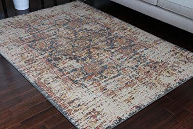 Rustic Collection Antique Style Wool Exposed Cotton And Jute