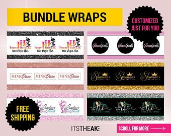Hang Tags Customized For You Hair Extension Packaging Bundle