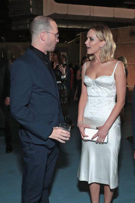 Jennifer Lawrence and Darren Aronofsky at BAM Gala 2018