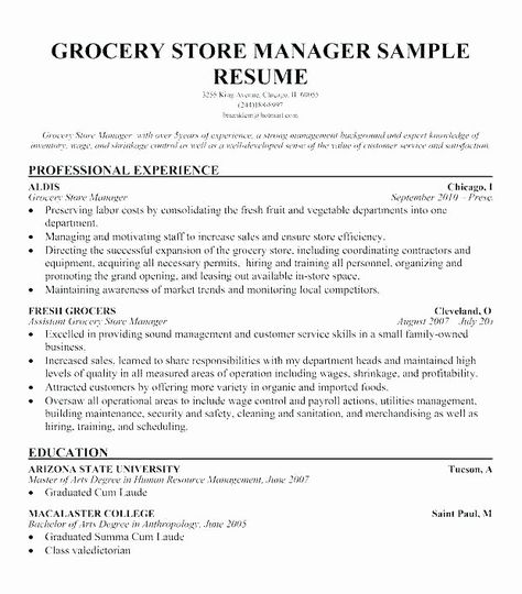 20 Grocery Store Cashier Resume Good Resume Examples Resume