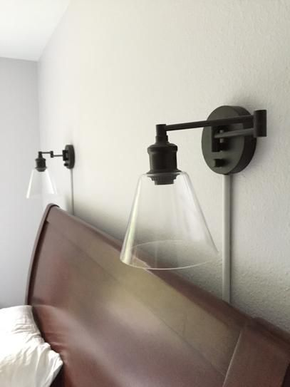 Globe Electric LeClair 1-Light Plug-In or Hardwire Industrial Wall Sconce Dark