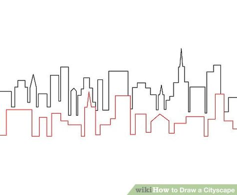 How to Draw a Cityscape: 4 Steps (with Pictures)