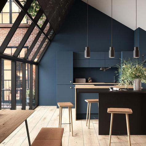 Une Cuisine Monochrome Bleue Marie Claire Marie Claire Maison