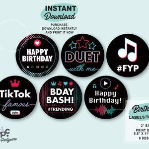 Musical Chip Bag Printable Musical Favor Bag Musical Etsy Birthday Sign Thank You Tag Printable Party Signs