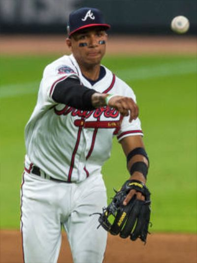 competitive price b5011 44fb2 Johan Camargo   Atlanta Braves   Braves baseball, Atlanta ...