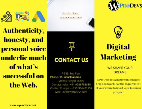 WproDevs are offering customized marketing strategy, consulting for creative services like PPC, Social Media, Mobile Marketing, and SEO & Content Creation to grow your business. #digital #digitalart #digitalpainting #digitaldrawing #photoshop #marketing #socialmedia #digitalmarketing #advertising #branding #business #marketingdigital #entrepreneur #startup #entrepreneurship #socialmediamarketing #sales #onlinemarketing #success #empreendedorismo #entrepreneurs #successquotes #publicidad