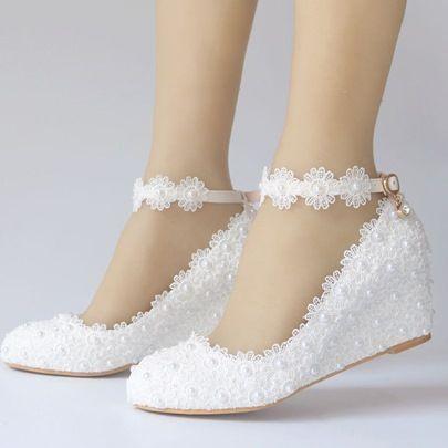 Keilabsatz Weddingshoes Hochzeits In 2020 Hochzeit Schuhe Keilabsatz