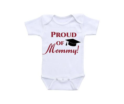 inktastic My Mommy Did It and She Did It for Me with Graduation Cap Baby T-Shirt