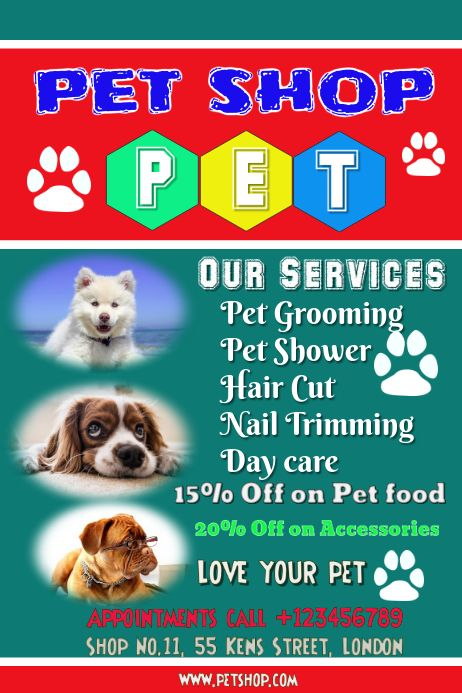 Customize This Design With Your Video Photos And Text Easy To Use Online Tools With Thousands Of Stock Photos Clipart And Ef In 2020 Pet Adoption Pets Love Your Pet