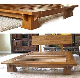 japanese wood furniture plans. the space efficient wakayama platform bed frame features interlocking japanese joinery assembly and mattress to correspondence constructed ou2026 wood furniture plans