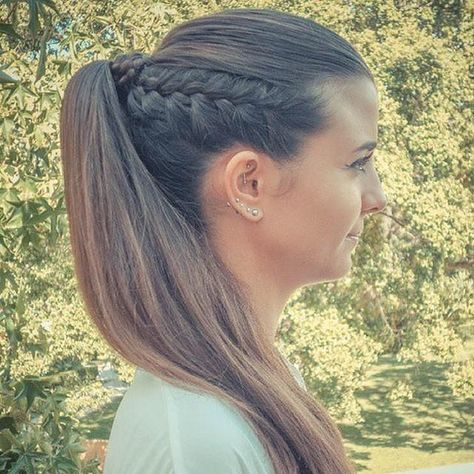 side braid & ponytail #OliviaGarden #BeautyTools