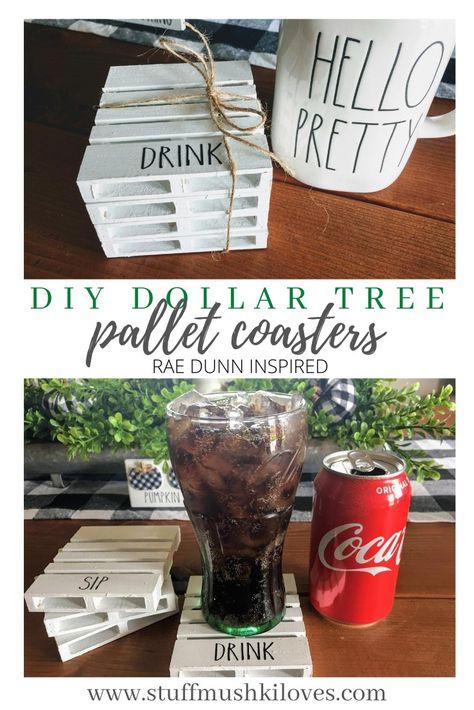 DIY Dollar tree pallet coasters
